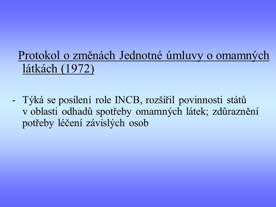 Protokol o změnách Jednotné úmluvy o omamných látkách (1972)