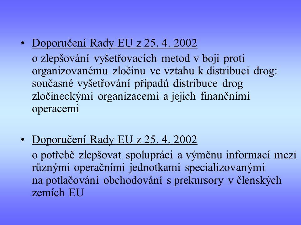 Doporučení Rady EU z 25. 4. 2002