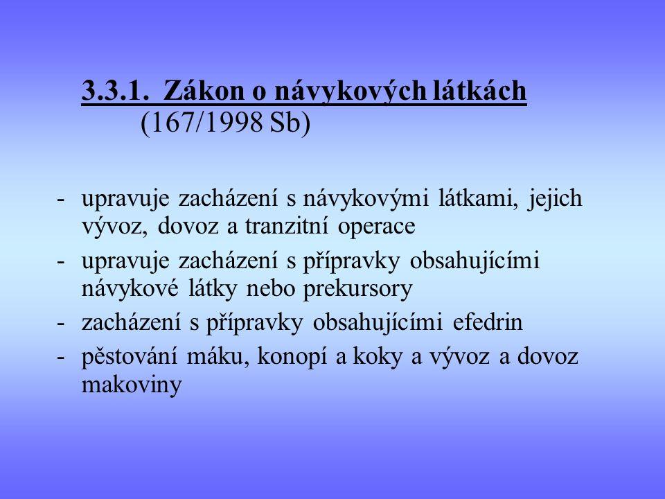 3.3.1. Zákon o návykových látkách (167/1998 Sb)