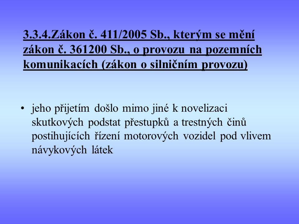 3. 3. 4. Zákon č. 411/2005 Sb. , kterým se mění zákon č. 361200 Sb