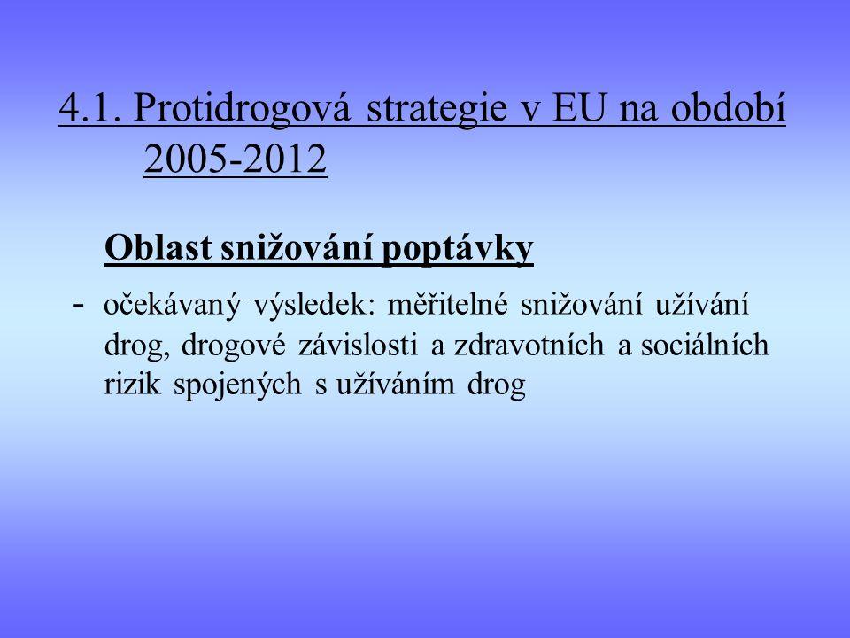 4.1. Protidrogová strategie v EU na období 2005-2012
