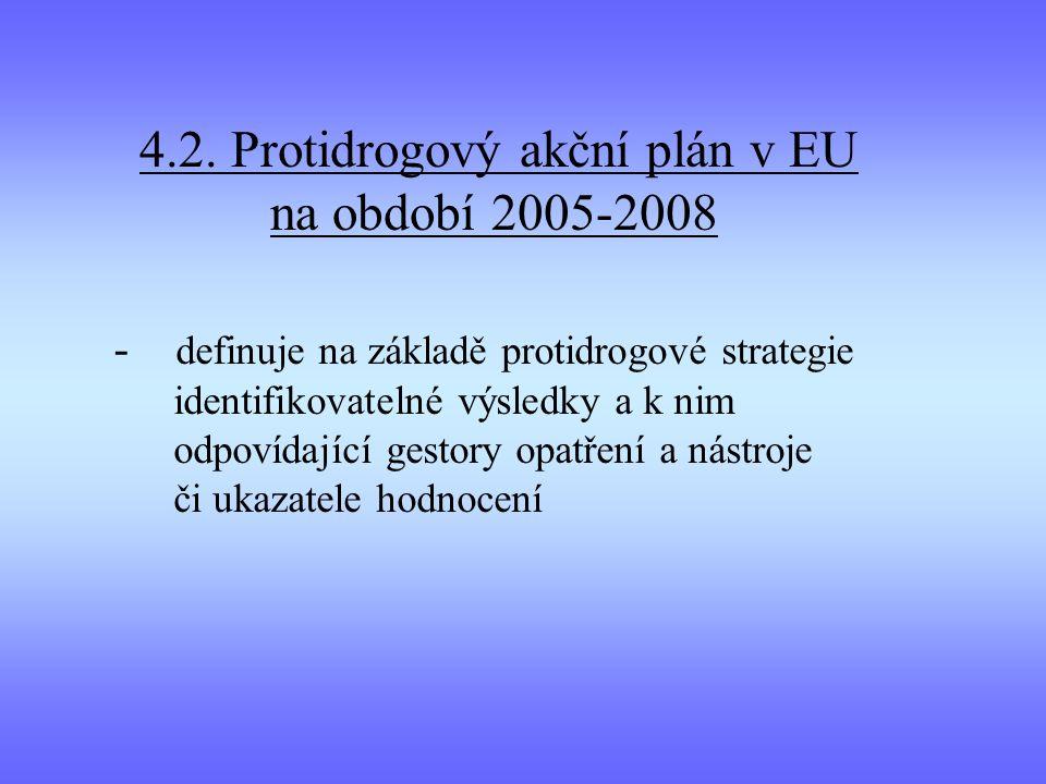 4.2. Protidrogový akční plán v EU na období 2005-2008