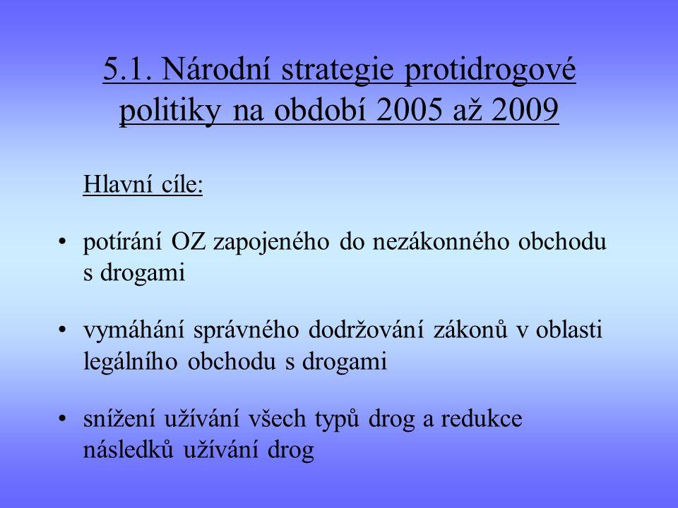 5.1. Národní strategie protidrogové politiky na období 2005 až 2009