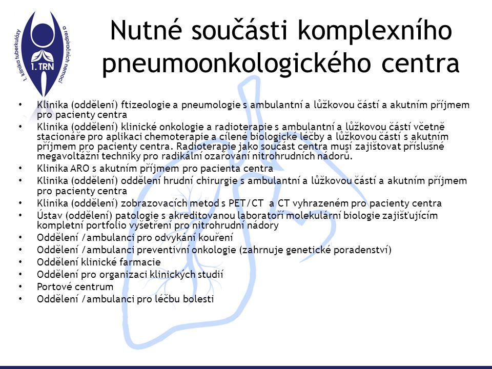 Nutné součásti komplexního pneumoonkologického centra