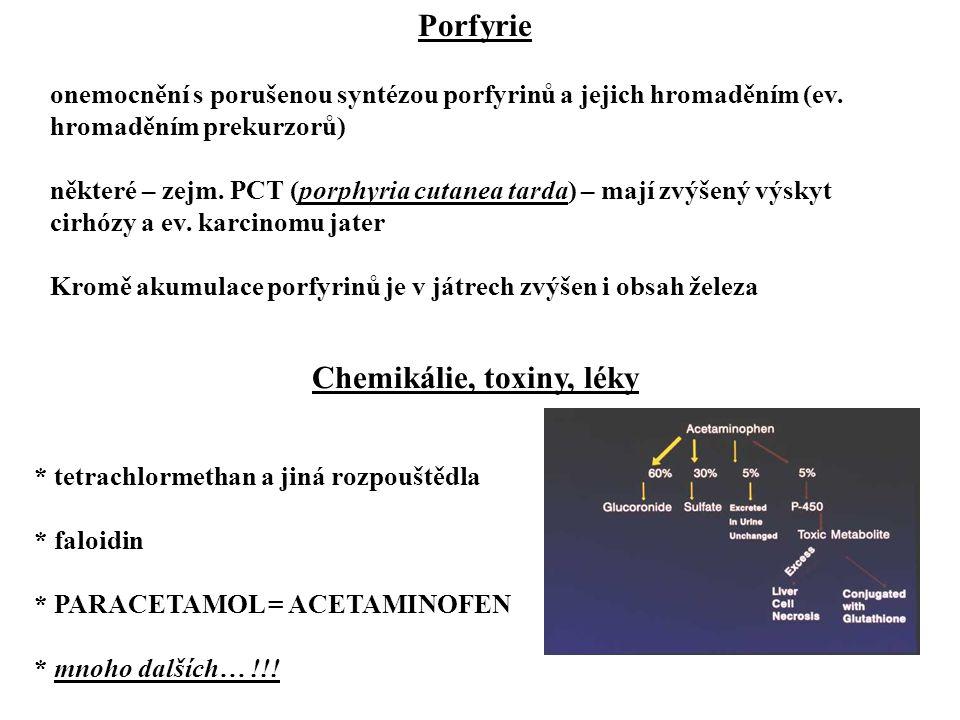 Chemikálie, toxiny, léky
