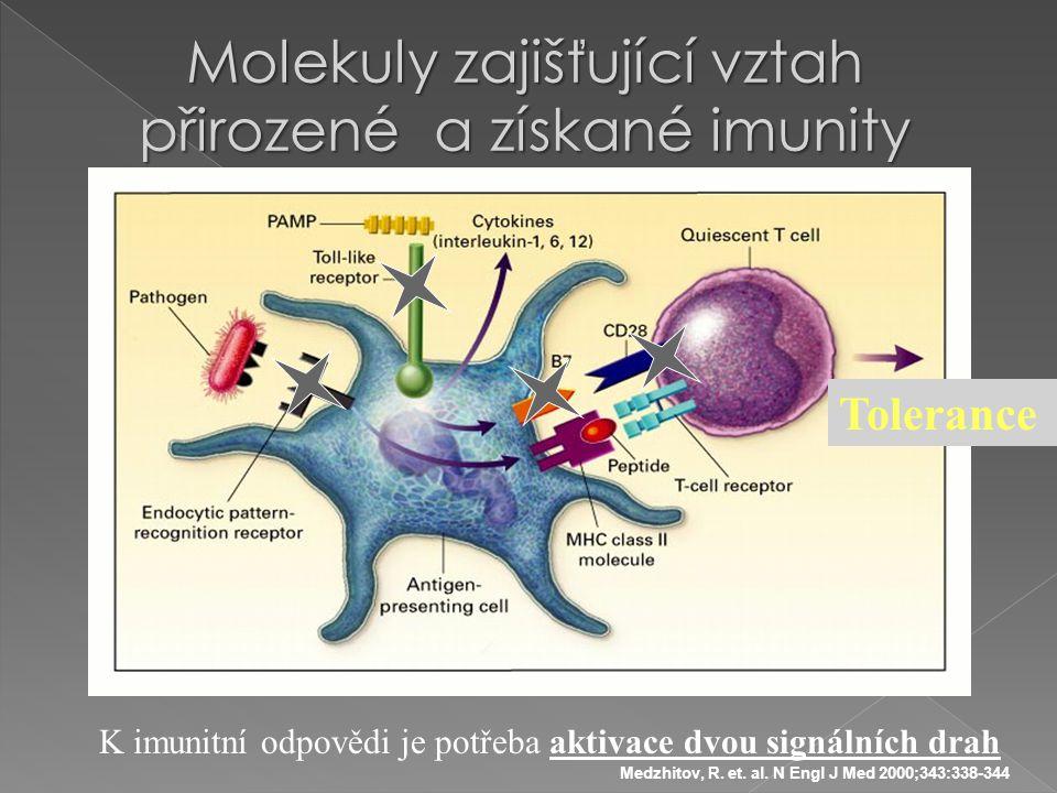 Molekuly zajišťující vztah přirozené a získané imunity