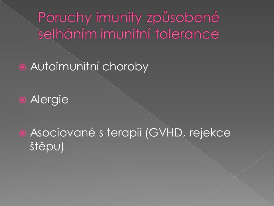 Poruchy imunity způsobené selháním imunitní tolerance