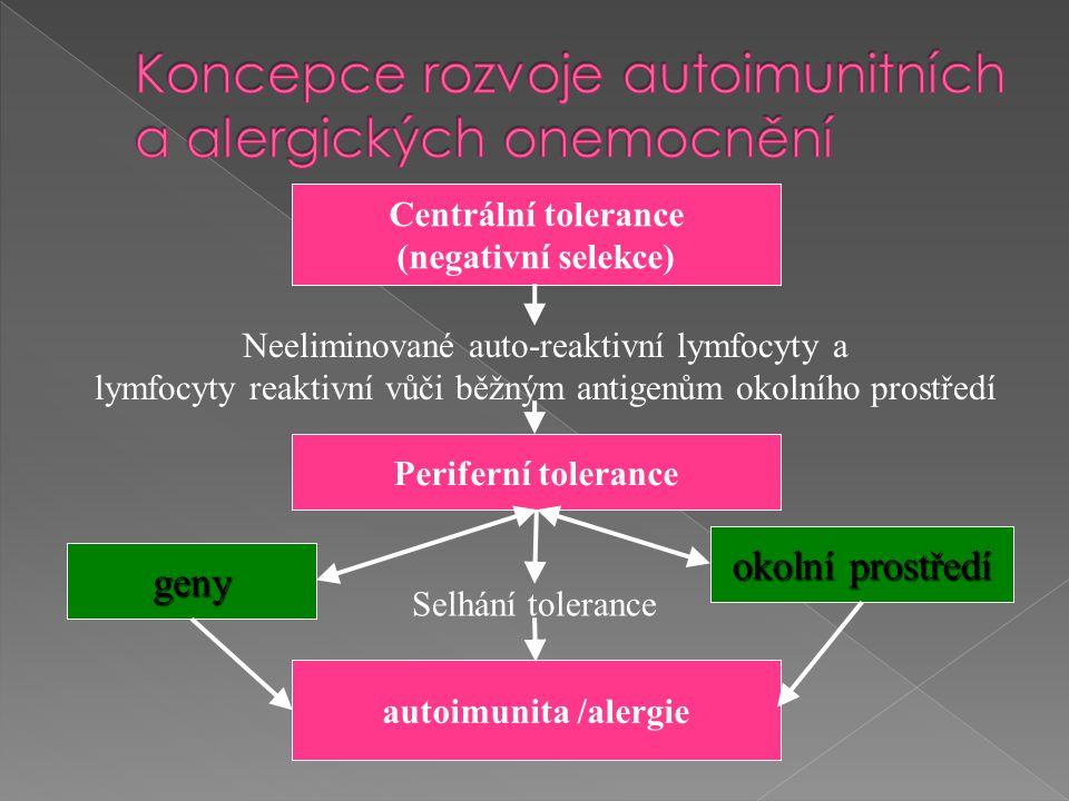 Koncepce rozvoje autoimunitních a alergických onemocnění