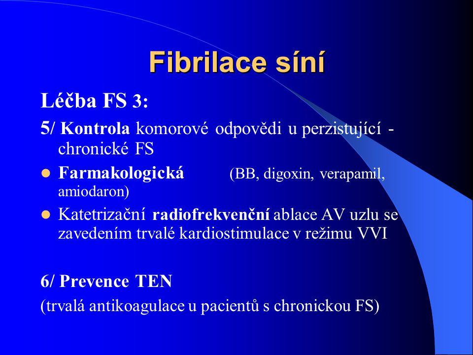 Fibrilace síní Léčba FS 3: