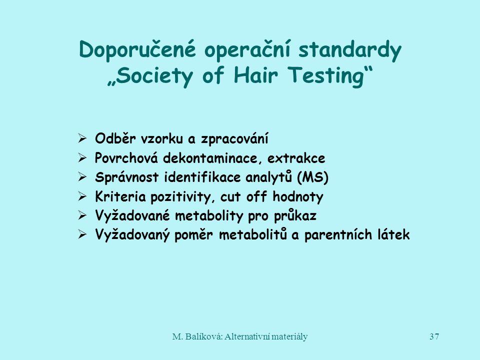 """Doporučené operační standardy """"Society of Hair Testing"""