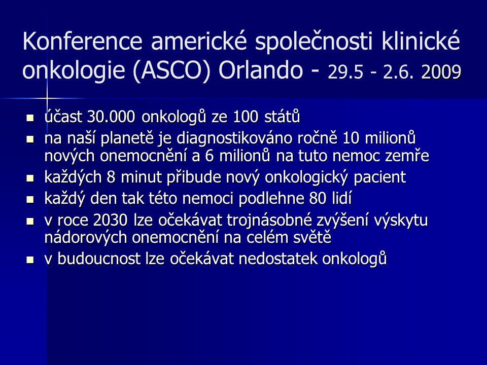 Konference americké společnosti klinické onkologie (ASCO) Orlando - 29