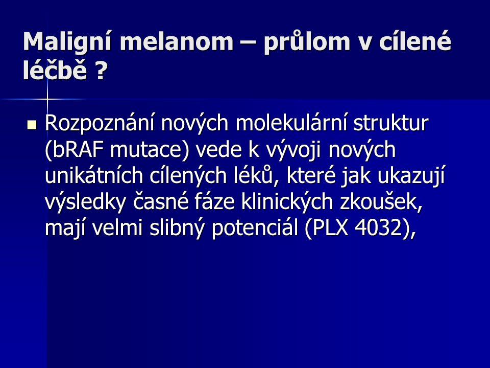 Maligní melanom – průlom v cílené léčbě
