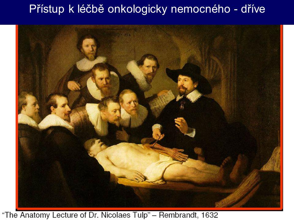 Přístup k léčbě onkologicky nemocného - dříve