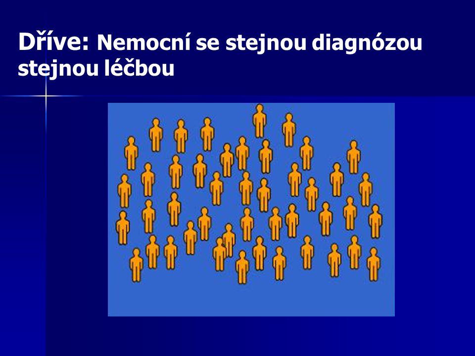 Dříve: Nemocní se stejnou diagnózou stejnou léčbou