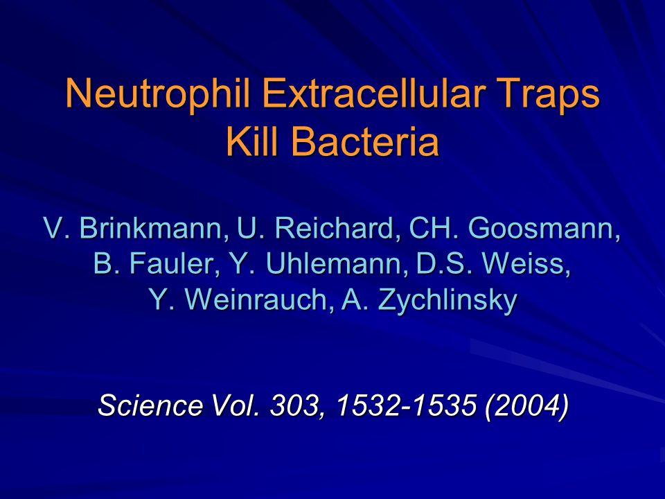 Neutrophil Extracellular Traps Kill Bacteria V. Brinkmann, U