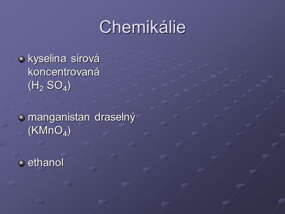 Chemikálie kyselina sírová koncentrovaná (H2 SO4)