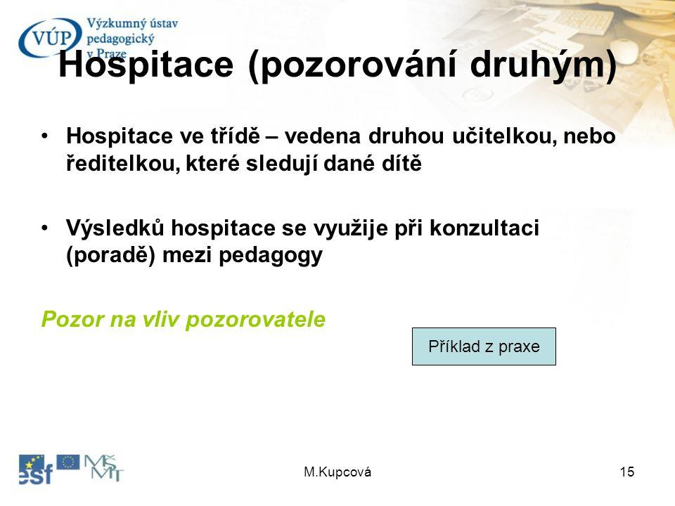 Hospitace (pozorování druhým)