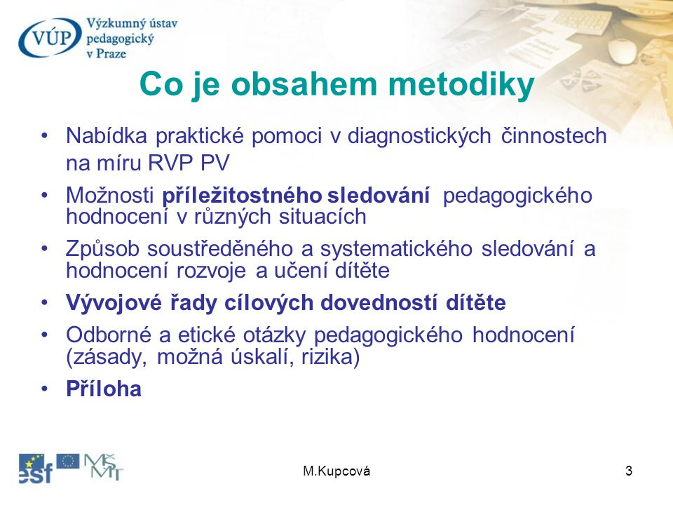 Co je obsahem metodiky Nabídka praktické pomoci v diagnostických činnostech na míru RVP PV.