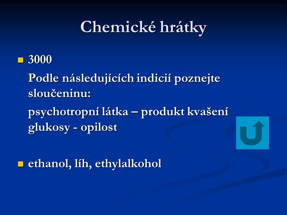 Chemické hrátky 3000 Podle následujících indicií poznejte sloučeninu: