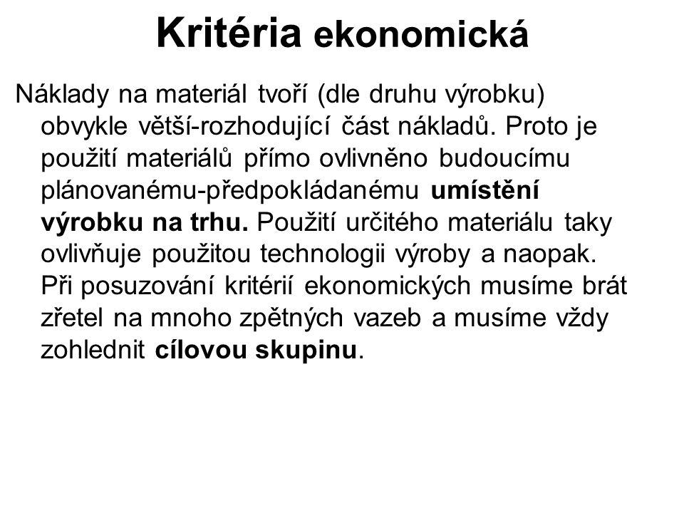 Kritéria ekonomická