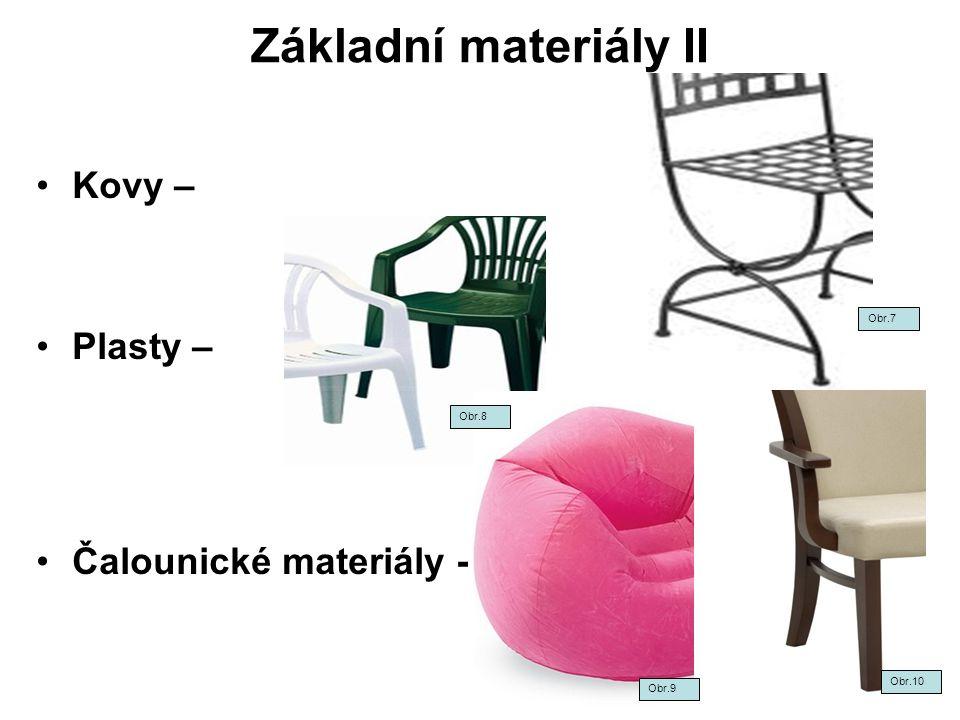Základní materiály II Kovy – Plasty – Čalounické materiály - Obr.7