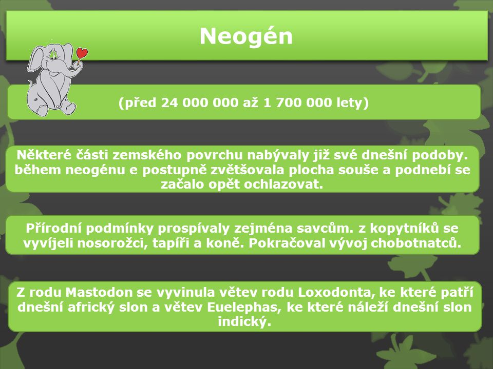 Neogén (před 24 000 000 až 1 700 000 lety)