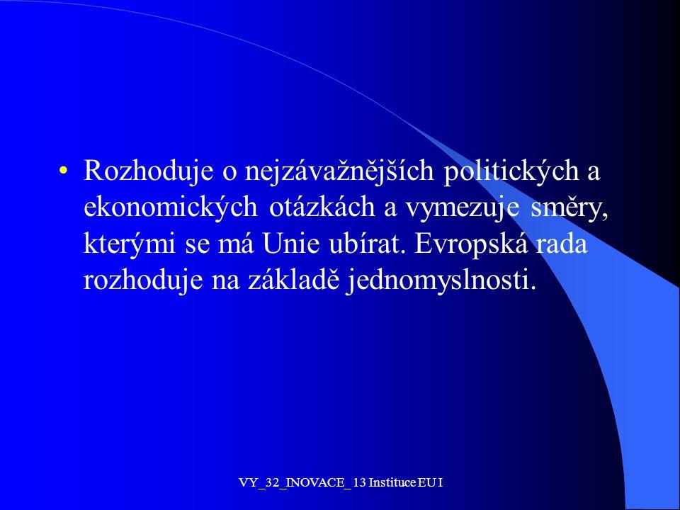 VY_32_INOVACE_ 13 Instituce EU I