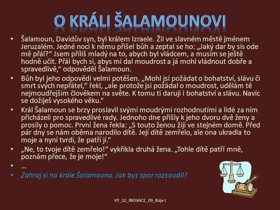 O králi Šalamounovi