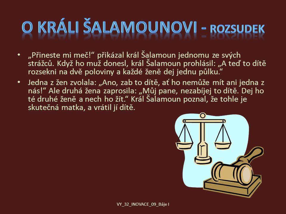 O králi Šalamounovi - rozsudek