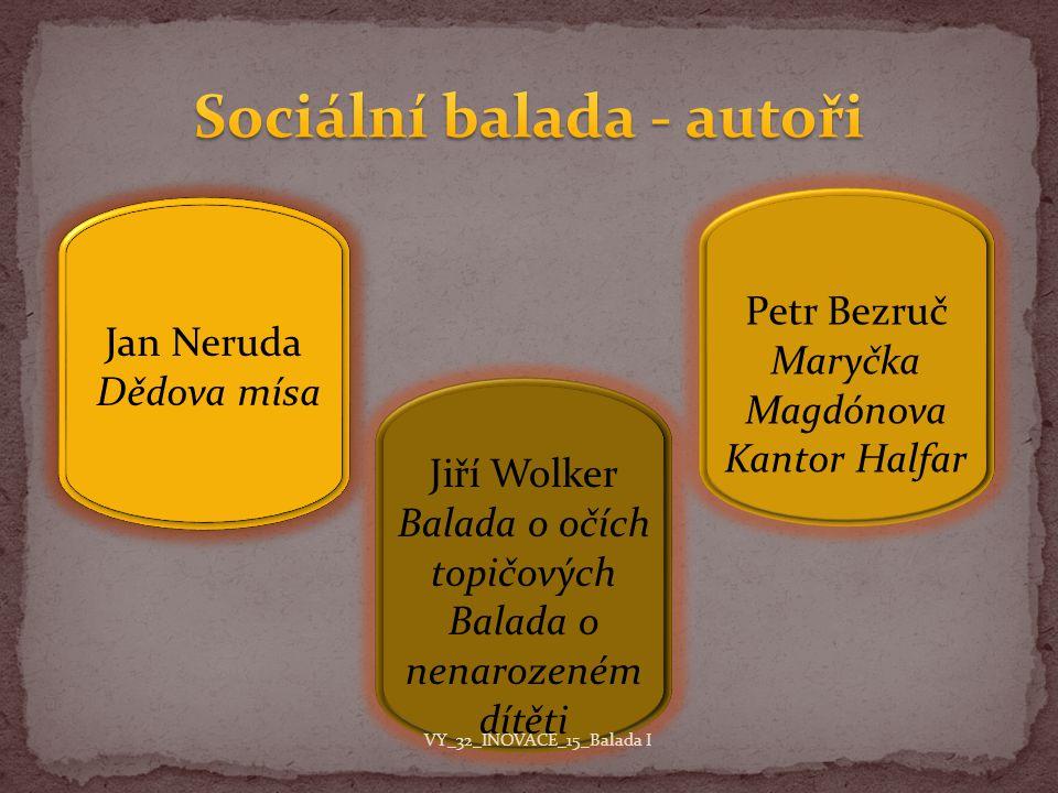 Sociální balada - autoři
