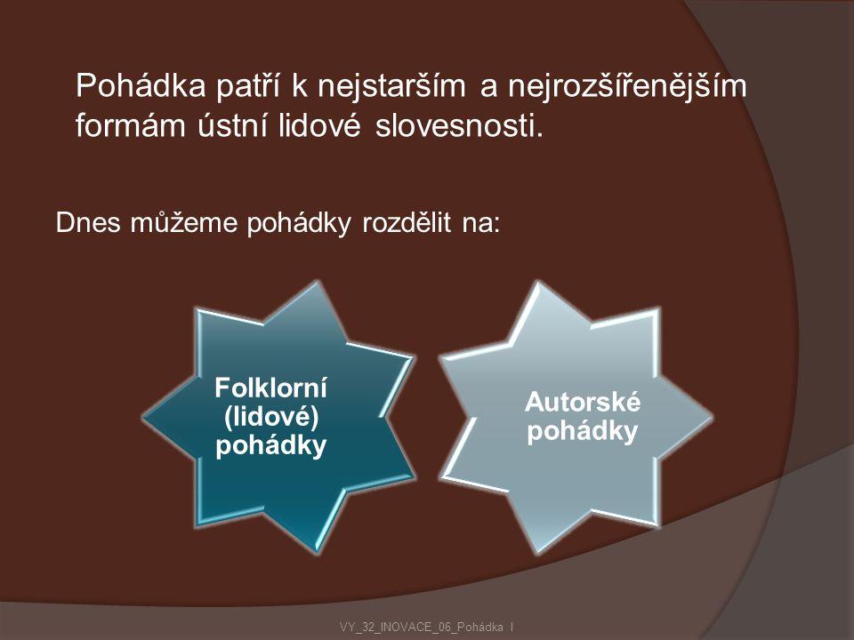 Folklorní (lidové) pohádky