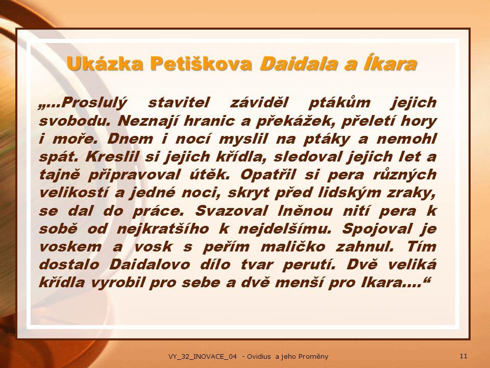 Ukázka Petiškova Daidala a Íkara