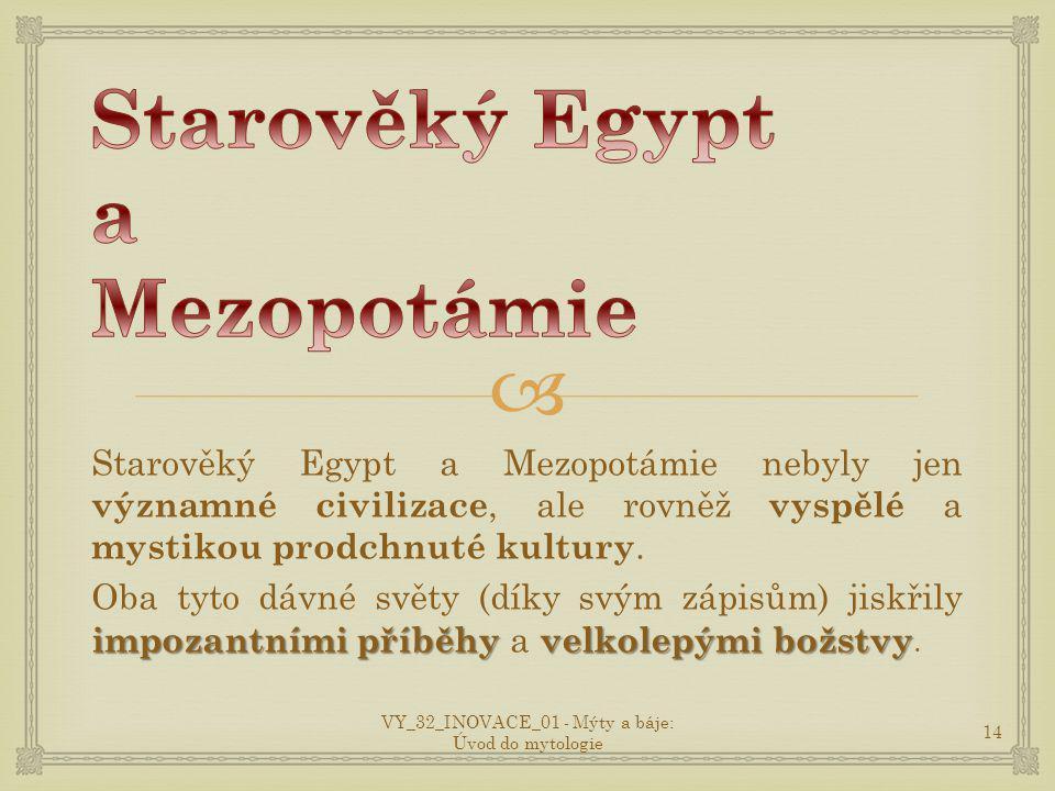 Starověký Egypt a Mezopotámie