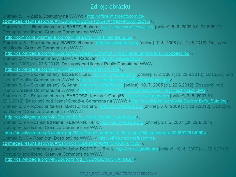 VY_32_INOVACE_03_OBOJŽIVELNÍCI BEZOCASÍ
