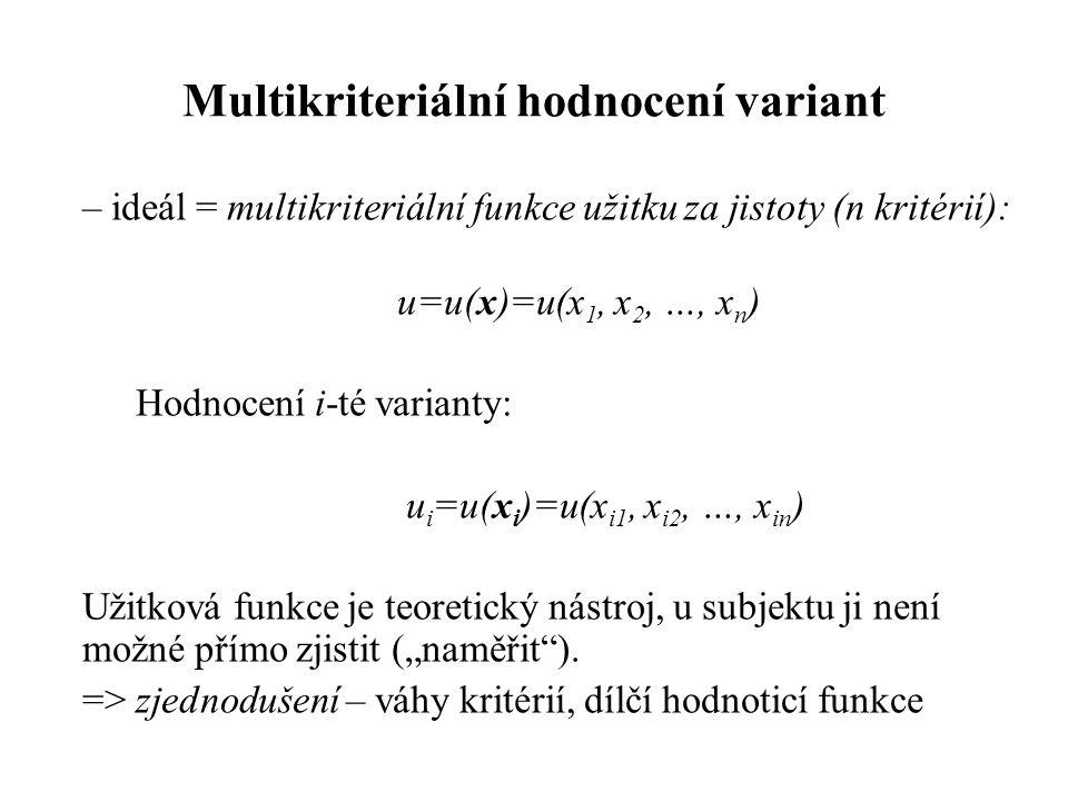 Multikriteriální hodnocení variant