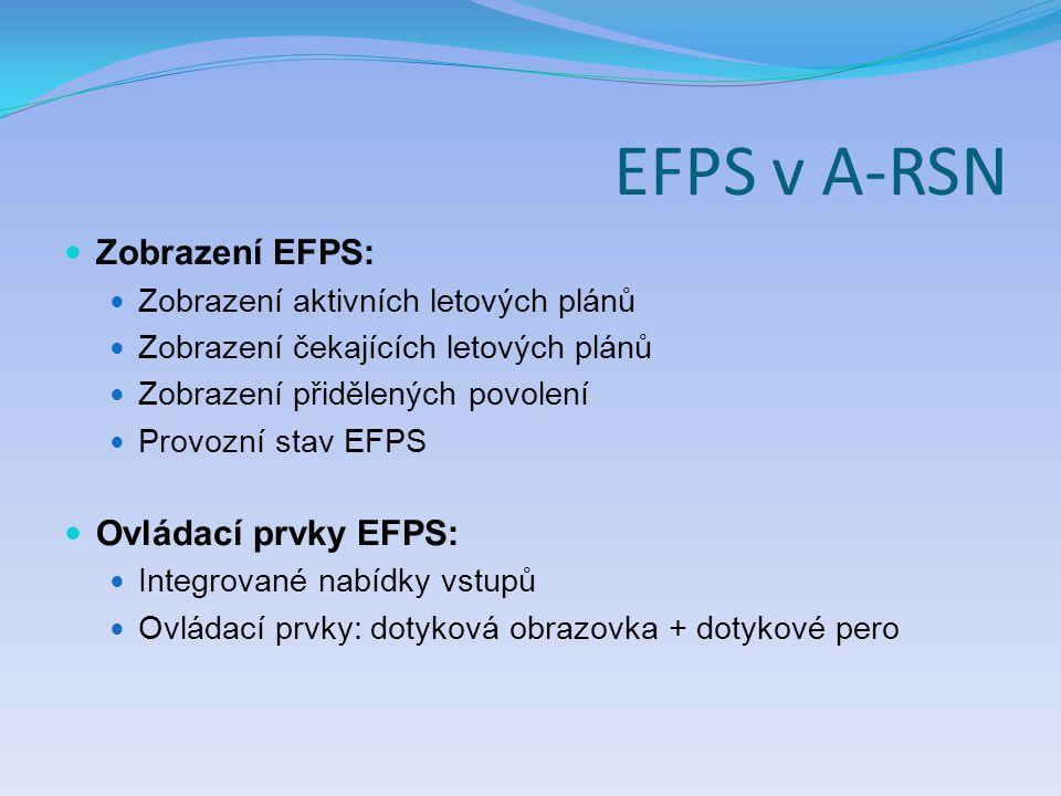 EFPS v A-RSN Zobrazení EFPS: Ovládací prvky EFPS: