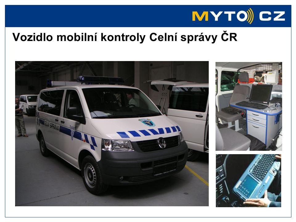 Vozidlo mobilní kontroly Celní správy ČR