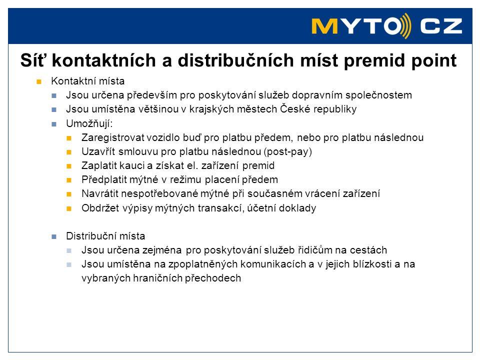 Síť kontaktních a distribučních míst premid point