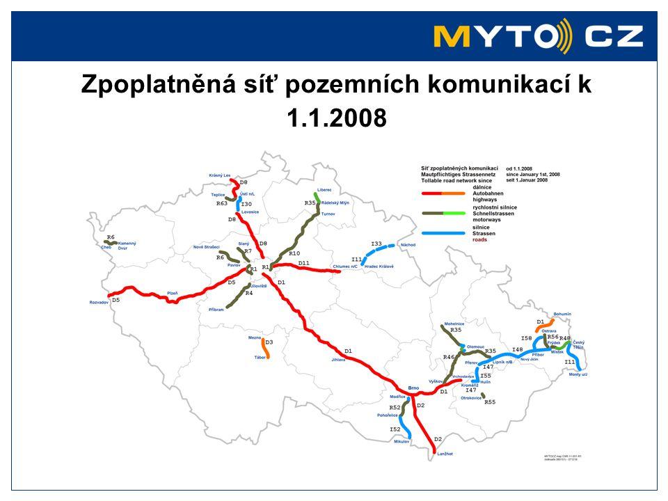Zpoplatněná síť pozemních komunikací k 1.1.2008