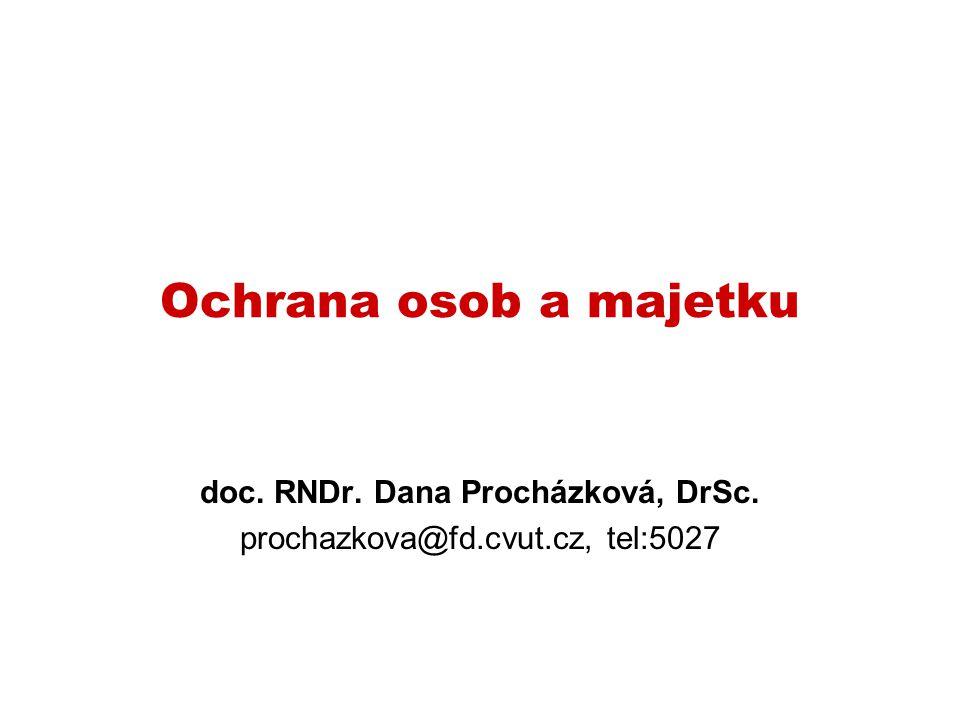 doc. RNDr. Dana Procházková, DrSc. prochazkova@fd.cvut.cz, tel:5027