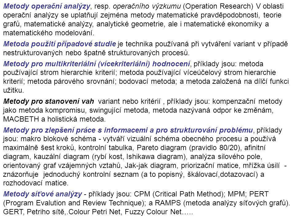Metody operační analýzy, resp