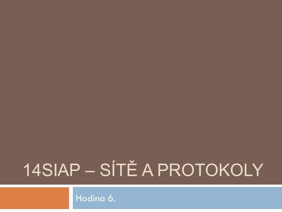 14SIAP – SÍTĚ A PROTOKOLY Hodina 6.