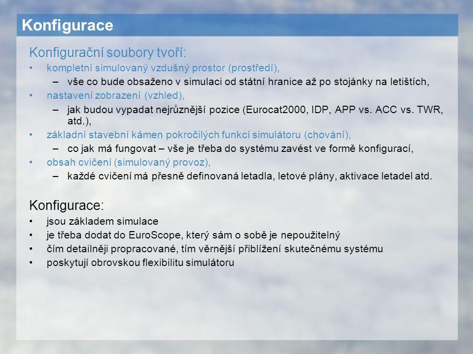 Konfigurace Konfigurační soubory tvoří: Konfigurace: