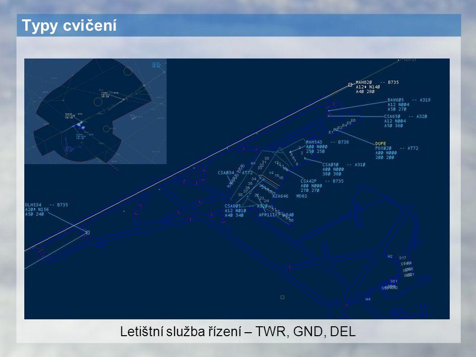 Letištní služba řízení – TWR, GND, DEL