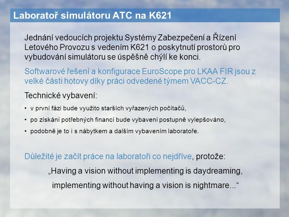 Laboratoř simulátoru ATC na K621