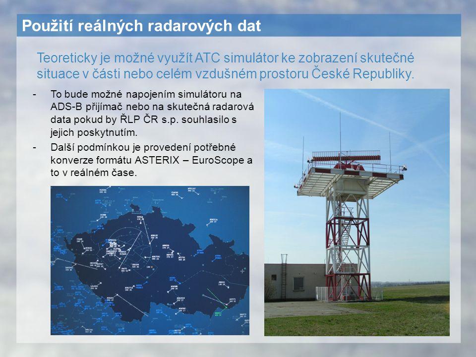 Použití reálných radarových dat