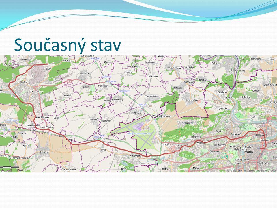 Současný stav Železniční spojení metropole s největším městem Středočeského kraje - Kladnem. Denně přepraví 5 tisíc cestujících.