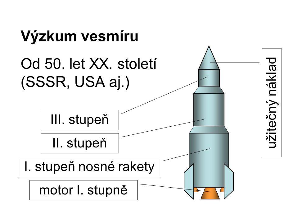 Výzkum vesmíru Od 50. let XX. století (SSSR, USA aj.)