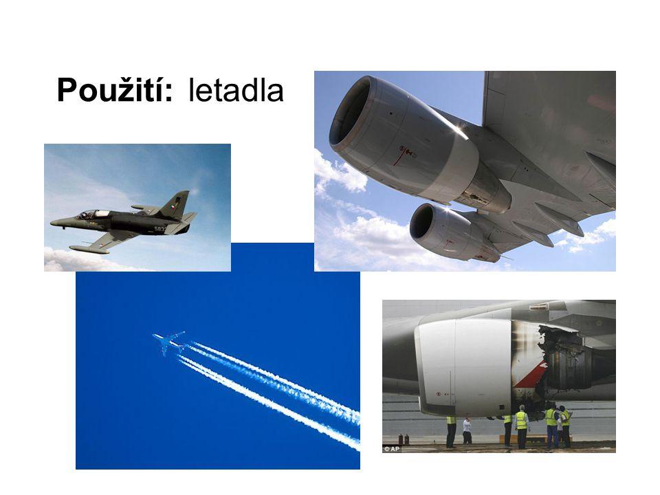 Použití: letadla