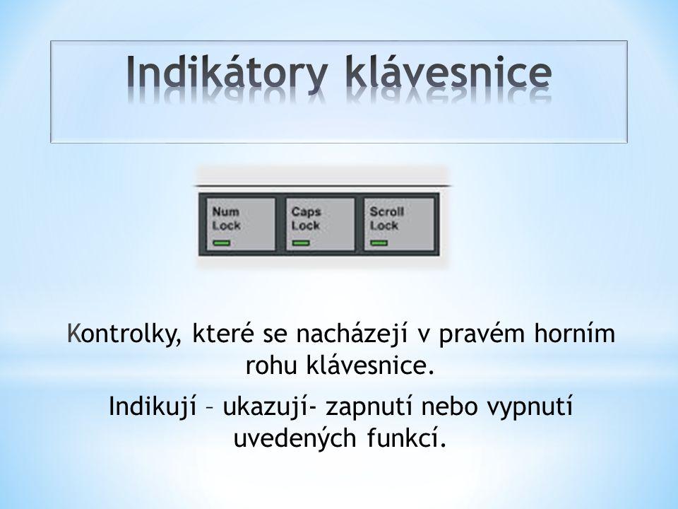 Indikátory klávesnice